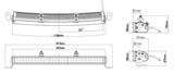 """LEDSON Apollo C LED - 105W LED BAR - 21"""" (53 cm) - CURVO_"""