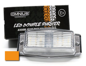 LENTE TRASPARENTE/ARANCIO - LED DOUBLE BURNER - OMNIUS