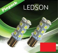 LED-LAMP ROOD 360 P21W 18SMD BA15s