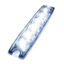 ULTRA DUNNE FLITSER - 6 LED - WIT