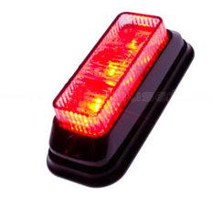 FLITSER 3 LED - GEKANTELD - ROOD