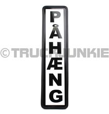 PAHAENG BORD ZWART - 40X10CM
