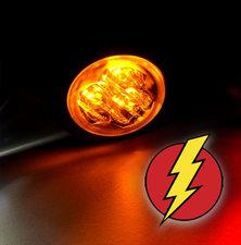 LED FLITSER - HIDE AWAY - AXITECH UR03  ECE R65 - ORANJE